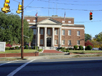 Image shows courthouse in Snow Hill, North Carolina